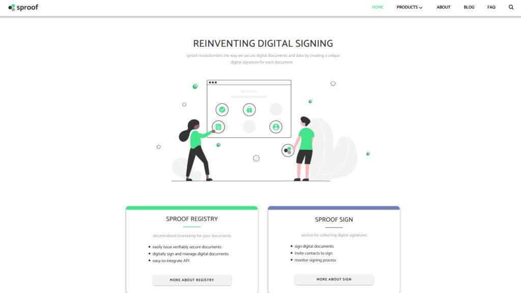 our year in review: screenshot sproof website relaunch