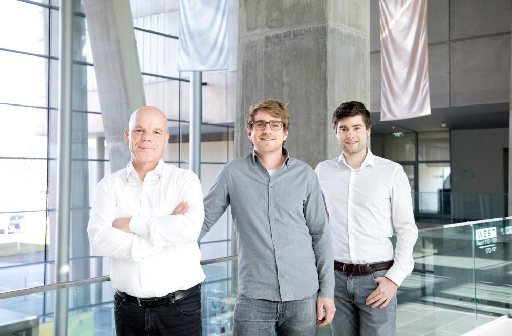 The sproof management team from left to right: Erich Höpoldseder, COO; Clemens Brunner, CEO; Fabian Knirsch, CTO